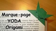 comment faire un marque page yoda en origami
