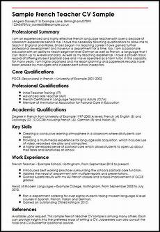 sle cv for language teacher entry level foreign