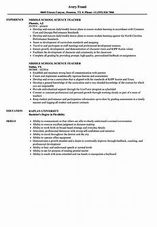 middle school resume templatescoverletters com