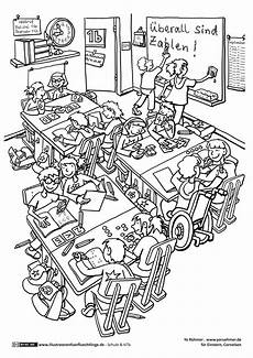 Ausmalbilder Grundschule Klassenzimmer Klassenzimmer Erste Klasse Schule
