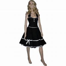 dekoltee klein petticoat kleid vintage schwarz dekoltee wei 223 e kleine punkte
