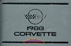 book repair manual 2012 chevrolet corvette free book corvette owners manual 1988 book chevrolet handbook chevy guide corvette c4 ebay