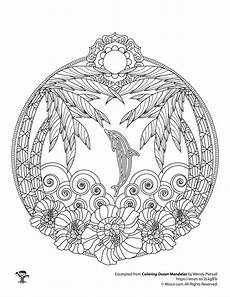 mandala coloring pages hd 17924 tropical and dolphin mandala coloring page coloring pages mandala