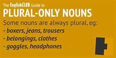 plural only nouns grammar englishclub