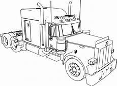 Ausmalbilder Lkw Semi Truck Outline Drawing At Getdrawings Free