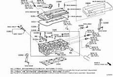 2006 toyota rav 4 engine diagram toyota rav4 engine valve cover gasket gasket cylinder cover 112130p010 genuine toyota