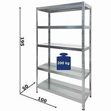 ripiani metallici per scaffali scaffali in metallo 5 ripiani cm l100xp50xh195 alta