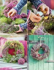 T 252 Rkranz Herbst Selber Binden Mit Eriken Wreaths