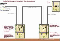 Steckdose Und Schalter Anschließen - wechselschaltung mit steckdosen anschlie 223 en elektryka in