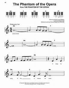 the phantom of the opera sheet music andrew lloyd webber super easy piano