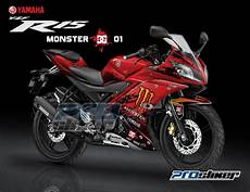 Variasi Motor R15 by Jual Striping R15 Variasi Prostiker Motif Moonster Energy