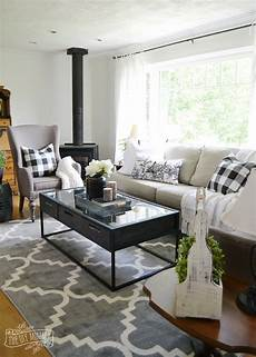 Black Farmhouse Living Room our guest cottage living room neutral mix and match style