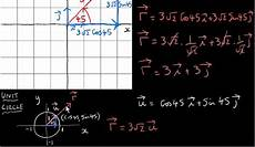 vectors in the i j plane polar form of a vector youtube