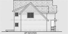 side view house plans 40 ft wide 2 story craftsman plan with 4 bedrooms
