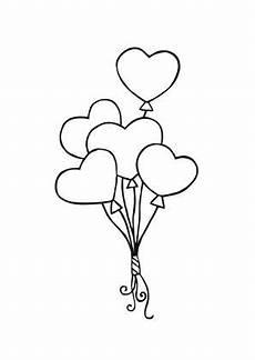 Ausmalbilder Sterne Herzen Ausmalbild Luftballon Herzen Luftballons Hochzeit