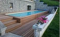 comment installer une piscine semi enterrée installer une piscine sur terrain en pente arizona pool