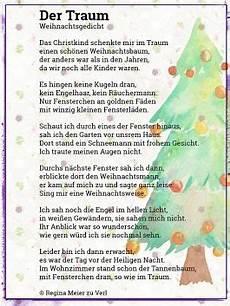 der traum gedicht weihnachten weihnachtsgedichte