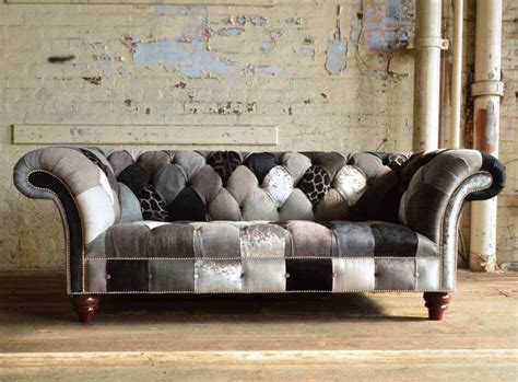 Poltrone Patchwork Outlet : Brighton Patchwork Chesterfield Sofa