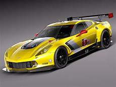 chevrolet corvette c7r 2015 3d model max obj 3ds fbx
