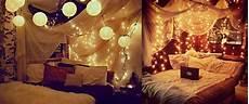 Bett Mit Led Lichterkette Und Wohlfuehloase Schlafzimmer