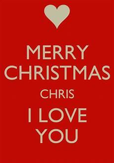 merry christmas chris i love you poster keep calm o matic