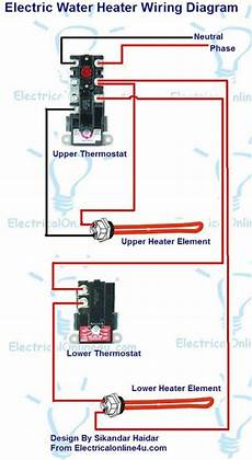 Wiring Diagram For Heater by Electric Water Heater Wiring With Diagram Electrical