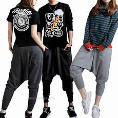 cool casual baggy hip hop harem trousers