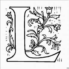 Ausmalbilder Buchstaben L Ausmalbilder Buchstaben L