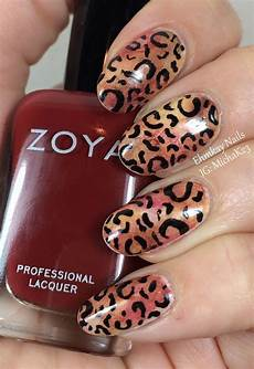 ehmkay nails sponged leopard print nail art