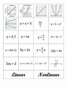 linear and nonlinear functions worksheet linear and nonlinear by middle school math aplenty tpt