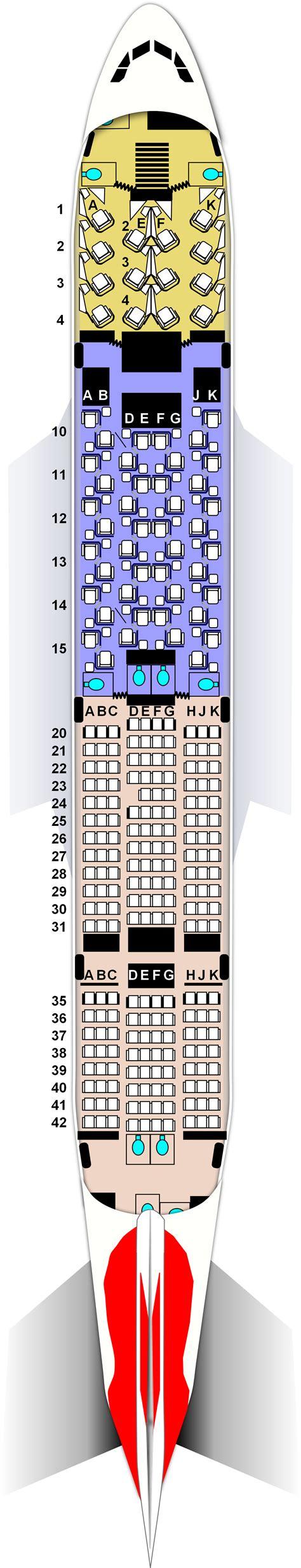 British Airways 744 Seat Map