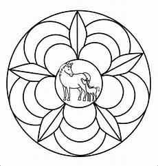 Malvorlage Pferd Mandala Kostenlose Malvorlage Mandalas Mandala Mit Pferd Und