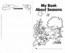 my book about seasons printable books