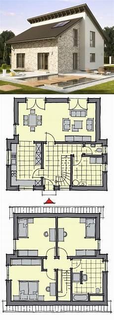 einfamilienhaus neubau modern mit pultdach versetzt