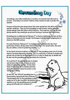 groundhog day worksheet groundhog day esl worksheet by p
