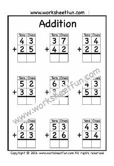 addition without regrouping grade 1 addition no regrouping free printable worksheets