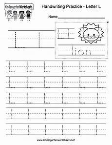 printable worksheets for letter l 24565 free printable letter l writing practice worksheet for kindergarten