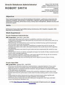 oracle database administrator resume sles qwikresume