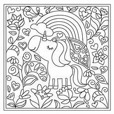 Unicorn Malvorlagen Kostenlos Word Lovely Unicorn Doodle Carpet Malen Nach Zahlen Malen