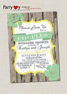 couple s wedding shower invitation couples shower invitation rustic co ed wedding
