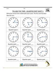 2nd grade telling time worksheets 3642 2nd grade math practice telling the time quarter past 1 time worksheets clock worksheets