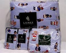 new ralph lauren teddy bear comforter set king 4pc ebay