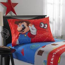 nintendo super mario odyssey fun kids bedding sheet full walmart com