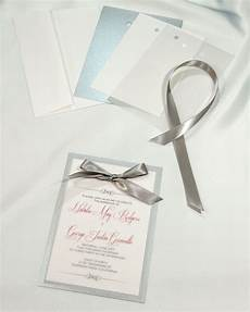 deep silver layered invitations simple yet elegant each kit comes with a backer card
