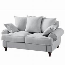 sofa angebote sofa seelow 2 sitzer webstoff silbergrau maison