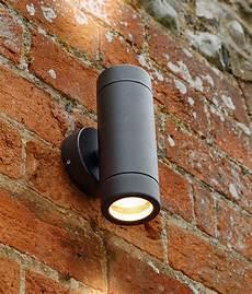 twin fixed wall light black ip65