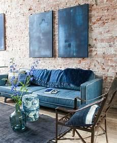 mur bleu paon 1001 id 233 es pour une d 233 co maison couleur indigo