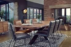 salle à manger en bois table salle 224 manger bois m 233 tal pied crois 233 240 cm oka