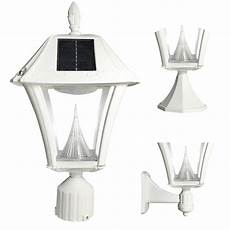 gama sonic baytown ii outdoor white resin solar wall light with warm white led 105233 5