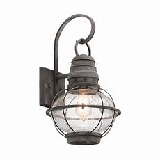 shop kichler lighting bridge point 20 in h weathered zinc outdoor wall light at lowes com